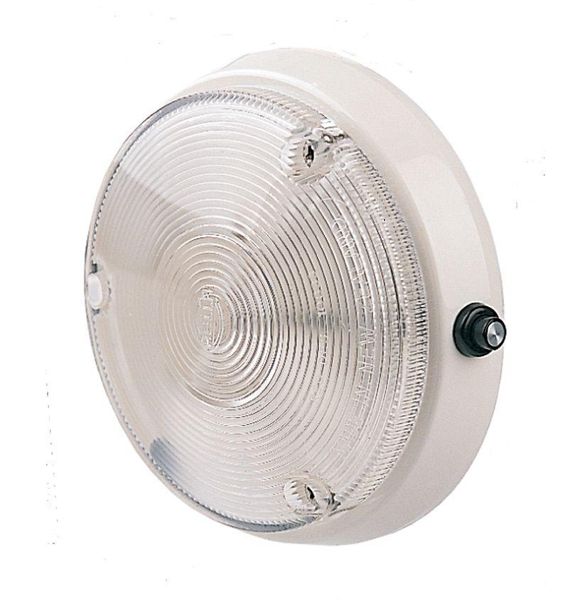 Veggljós 12V 10W hringl.m.rofa-0